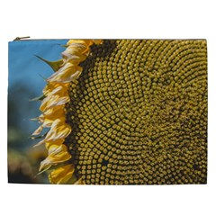 Sunflower Bright Close Up Color Disk Florets Cosmetic Bag (xxl)
