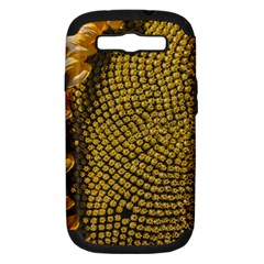 Sunflower Bright Close Up Color Disk Florets Samsung Galaxy S Iii Hardshell Case (pc+silicone)