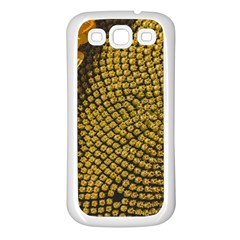 Sunflower Bright Close Up Color Disk Florets Samsung Galaxy S3 Back Case (white)