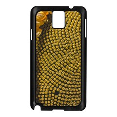 Sunflower Bright Close Up Color Disk Florets Samsung Galaxy Note 3 N9005 Case (black)