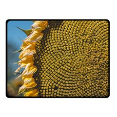 Sunflower Bright Close Up Color Disk Florets Double Sided Fleece Blanket (small)