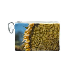 Sunflower Bright Close Up Color Disk Florets Canvas Cosmetic Bag (s)