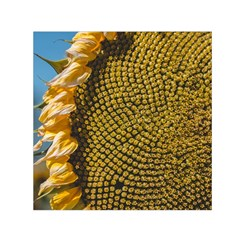 Sunflower Bright Close Up Color Disk Florets Small Satin Scarf (square)