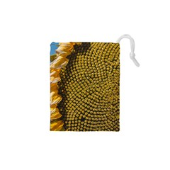 Sunflower Bright Close Up Color Disk Florets Drawstring Pouches (xs)