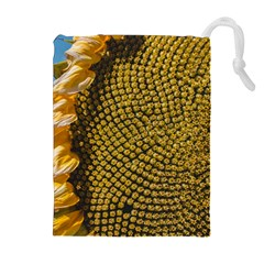 Sunflower Bright Close Up Color Disk Florets Drawstring Pouches (extra Large)