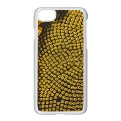 Sunflower Bright Close Up Color Disk Florets Apple Iphone 7 Seamless Case (white)