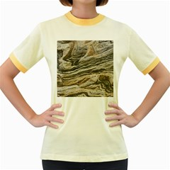 Rock Texture Background Stone Women s Fitted Ringer T Shirts