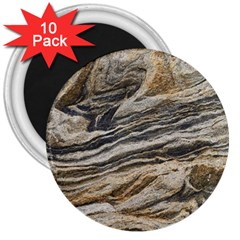 Rock Texture Background Stone 3  Magnets (10 Pack)
