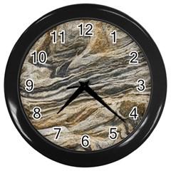 Rock Texture Background Stone Wall Clocks (black)