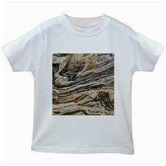 Rock Texture Background Stone Kids White T Shirts