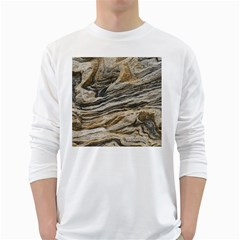 Rock Texture Background Stone White Long Sleeve T Shirts