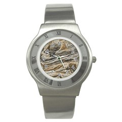 Rock Texture Background Stone Stainless Steel Watch