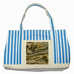Rock Texture Background Stone Striped Blue Tote Bag