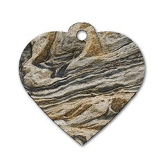 Rock Texture Background Stone Dog Tag Heart (two Sides)