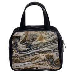 Rock Texture Background Stone Classic Handbags (2 Sides)