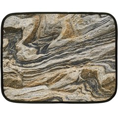 Rock Texture Background Stone Double Sided Fleece Blanket (mini)