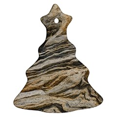 Rock Texture Background Stone Christmas Tree Ornament (two Sides)