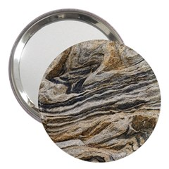 Rock Texture Background Stone 3  Handbag Mirrors