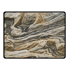 Rock Texture Background Stone Double Sided Fleece Blanket (small)