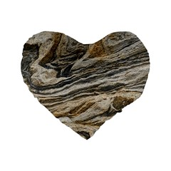 Rock Texture Background Stone Standard 16  Premium Flano Heart Shape Cushions