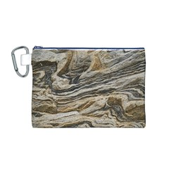 Rock Texture Background Stone Canvas Cosmetic Bag (m)