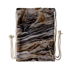 Rock Texture Background Stone Drawstring Bag (small)