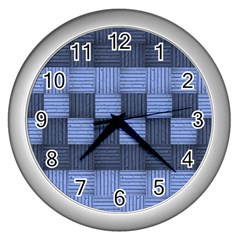 Texture Structure Surface Basket Wall Clocks (silver)
