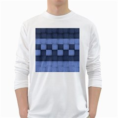 Texture Structure Surface Basket White Long Sleeve T Shirts