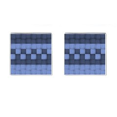 Texture Structure Surface Basket Cufflinks (square)