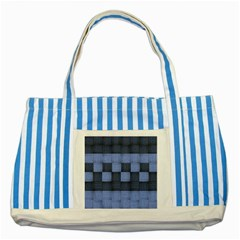 Texture Structure Surface Basket Striped Blue Tote Bag