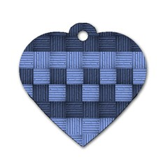 Texture Structure Surface Basket Dog Tag Heart (one Side)