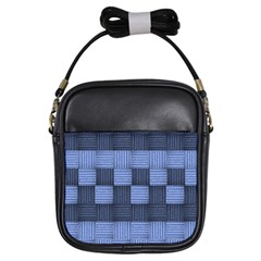 Texture Structure Surface Basket Girls Sling Bags