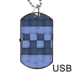 Texture Structure Surface Basket Dog Tag Usb Flash (two Sides)