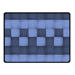 Texture Structure Surface Basket Double Sided Fleece Blanket (small)