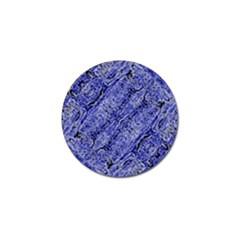 Texture Blue Neon Brick Diagonal Golf Ball Marker (4 Pack)