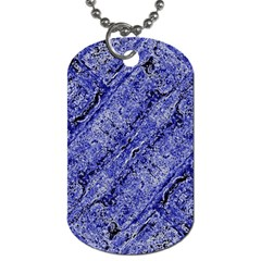 Texture Blue Neon Brick Diagonal Dog Tag (two Sides)