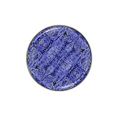 Texture Blue Neon Brick Diagonal Hat Clip Ball Marker (10 Pack)