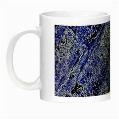 Texture Blue Neon Brick Diagonal Night Luminous Mugs