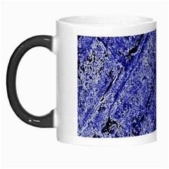 Texture Blue Neon Brick Diagonal Morph Mugs