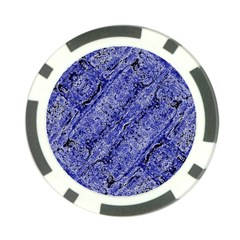Texture Blue Neon Brick Diagonal Poker Chip Card Guard