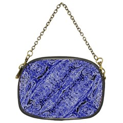 Texture Blue Neon Brick Diagonal Chain Purses (one Side)