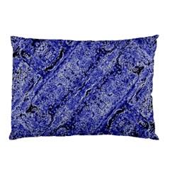 Texture Blue Neon Brick Diagonal Pillow Case