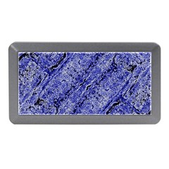 Texture Blue Neon Brick Diagonal Memory Card Reader (mini)