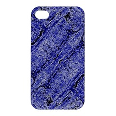 Texture Blue Neon Brick Diagonal Apple Iphone 4/4s Hardshell Case