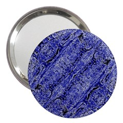 Texture Blue Neon Brick Diagonal 3  Handbag Mirrors