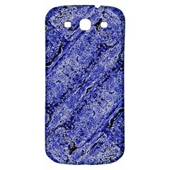 Texture Blue Neon Brick Diagonal Samsung Galaxy S3 S Iii Classic Hardshell Back Case