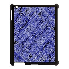 Texture Blue Neon Brick Diagonal Apple Ipad 3/4 Case (black)