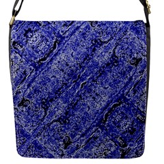 Texture Blue Neon Brick Diagonal Flap Messenger Bag (s)