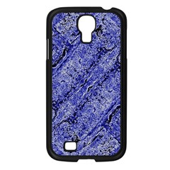 Texture Blue Neon Brick Diagonal Samsung Galaxy S4 I9500/ I9505 Case (black)