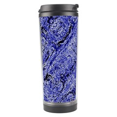 Texture Blue Neon Brick Diagonal Travel Tumbler